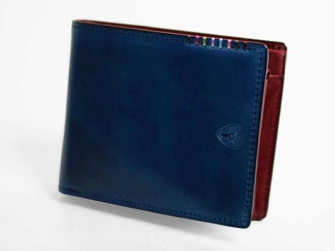 二つ折り財布 カード段13 オイルコードバン