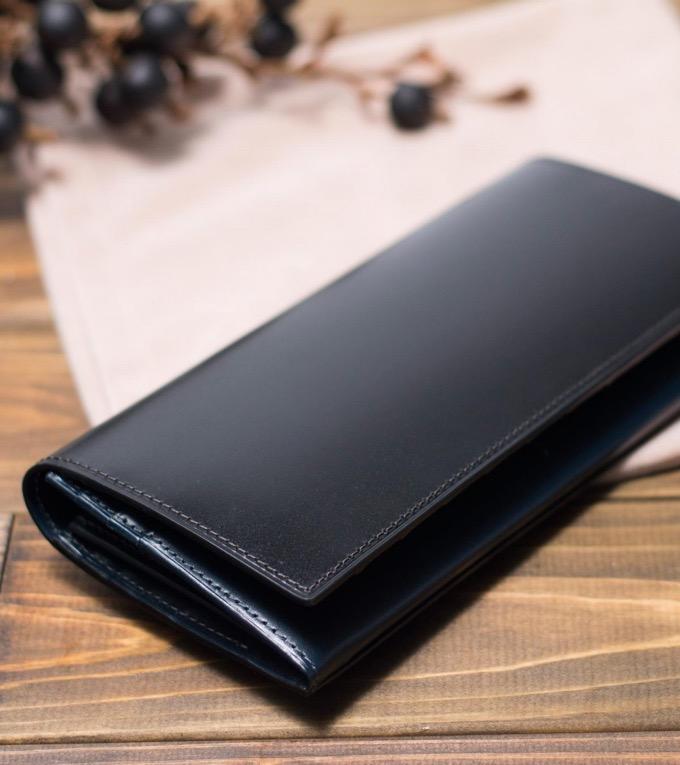 長財布 コードバン カード段25 ステイン