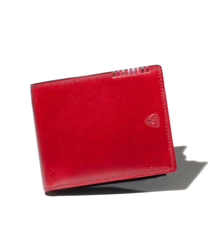 二つ折り財布 オイルコードバン カード段10