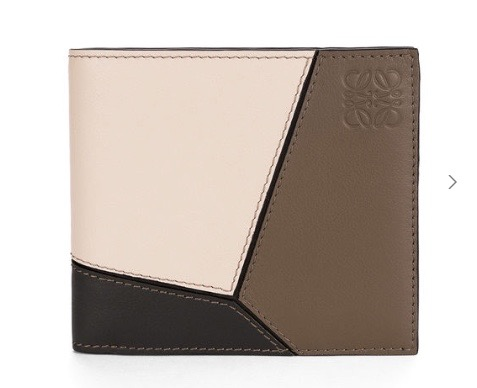 Puzzle Bifold Wallet Dark Taupe Multitone