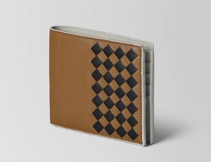 キャメル ネロ セメント イントレチャート チェッカー ナッパ 二つ折りウォレット
