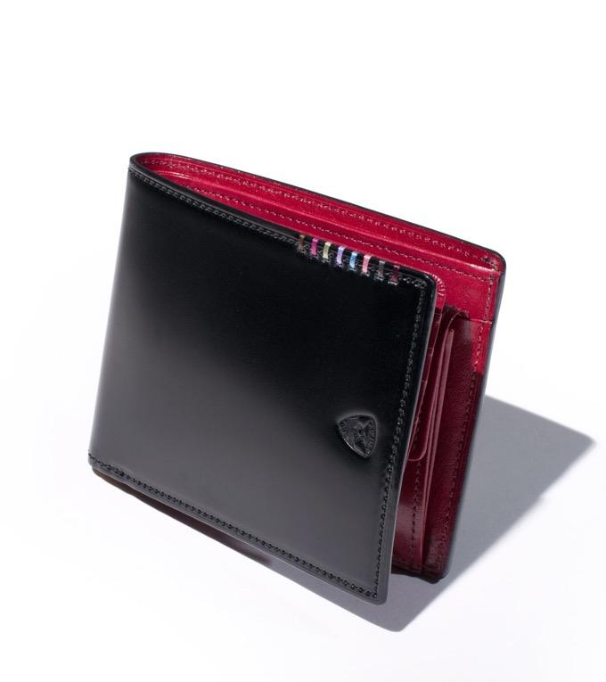 二つ折り財布 カード段13 オイルコードバン フォール No.614606