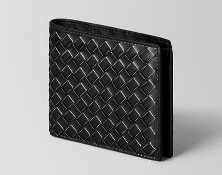 ネロ メタル ブラッシュ カーフ コインケース付き二つ折りウォレット